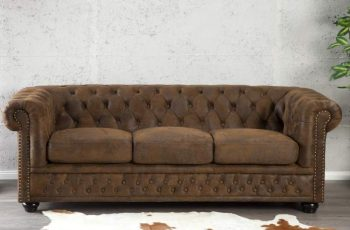 Sofa Chesterfield 3er hnedá (antik look)