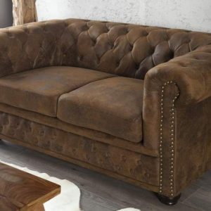 Sofa Chesterfield dvoják hnedá (antik look)