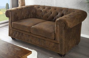 Sofa Chesterfield dvoják hnedá (antik look)