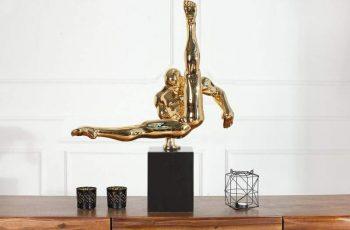 Soška Athlete II Turner 70cm - zlatá