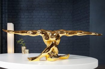 Soška Muskel Athlet Bolt 65cm - zlatá