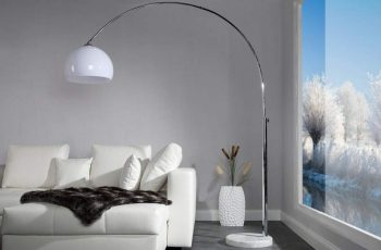 Stojanová lampa Forma - biela
