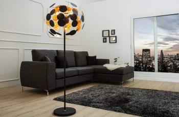 Stojanová lampa Forma - čiernozlatá