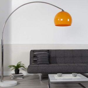 Stojanová lampa Forma - oranžová