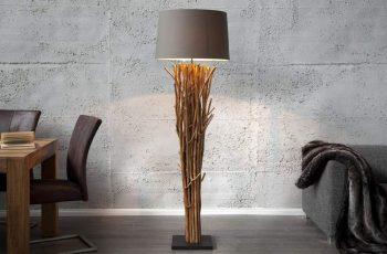 Stojanová lampa - naplavené drevo Euphoria 175cm hnedá