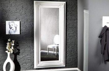 Stojanové zrkadlo Renaissance 180cm - biele