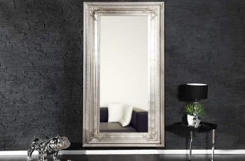 Stojanové zrkadlo Renaissance 180cm - strieborné