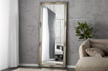 Stojanové zrkadlo Renaissance 185cm - strieborná
