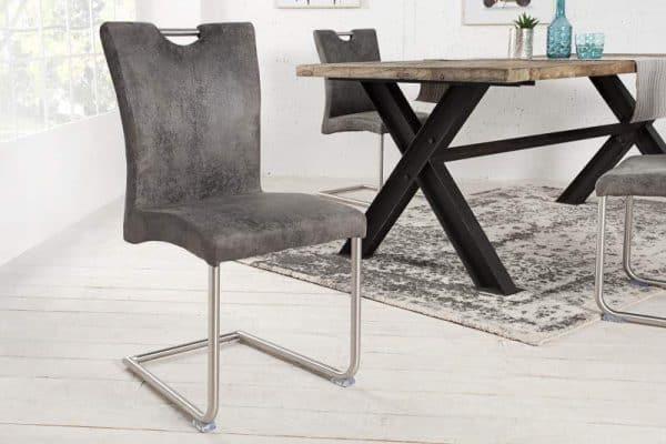 Stolička H-334 - vintage sivá
