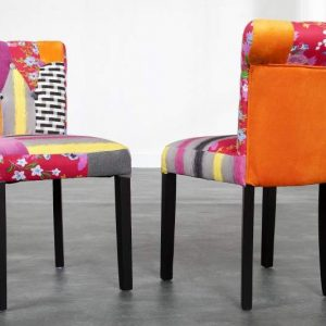 Stolička Ibiza II Patchwork,  farebné