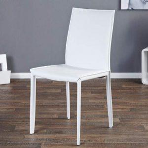 Stolička Milano biela - Leder