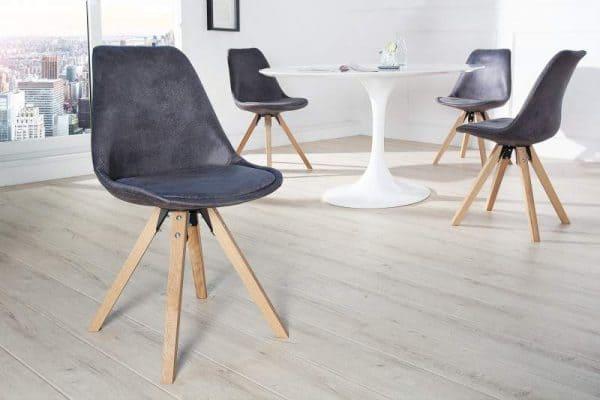 Stolička V-1 - antik sivá