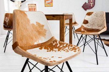 Stolička V-1 - hnedá biela