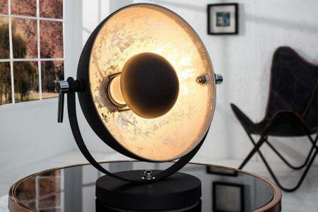 Stolová lampa Austin S - čierna strieborná