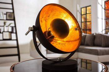 Stolová lampa Austin S - čiernozlatá