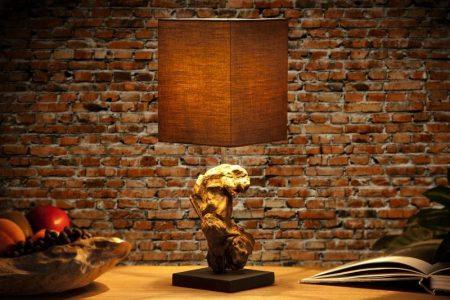 Stolová lampa Austin S - hnedá