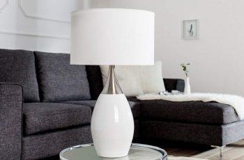 Stolová lampa Carla - biela