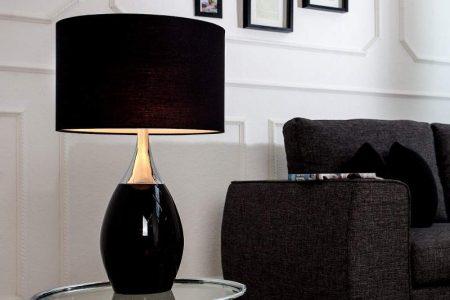 Stolová lampa Carla 60cm - čierna