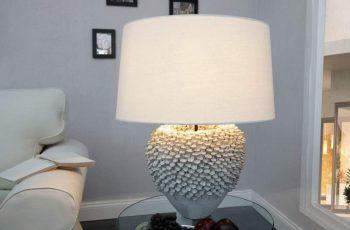 Stolová lampa Ciarra bielaer tienidlo