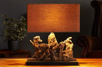 Stolová lampa - naplavené drevo Aragon
