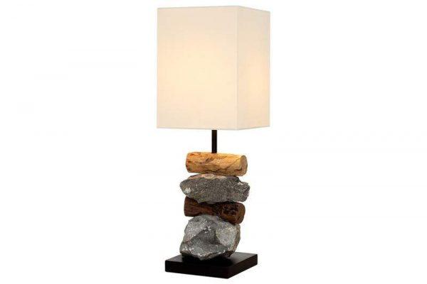 Stolová lampa - naplavené drevo Elements biela