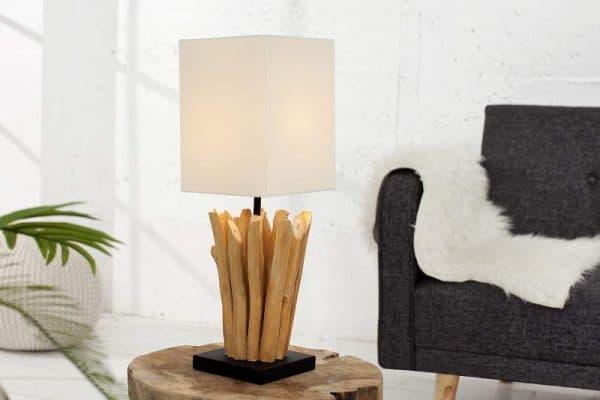 Stolová lampa - naplavené drevo Euphoria biela