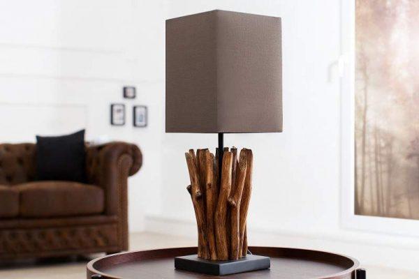 Stolová lampa naplavené drevo Euphoria siváhnedá