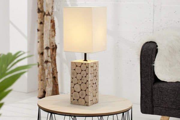 Stolová lampa Natural Mosaic biela