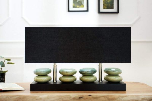 Stolová lampa River Stones 55cm čierna