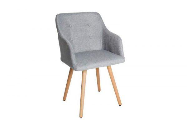 Svetlosivá jedálenská stolička Scandinavia »