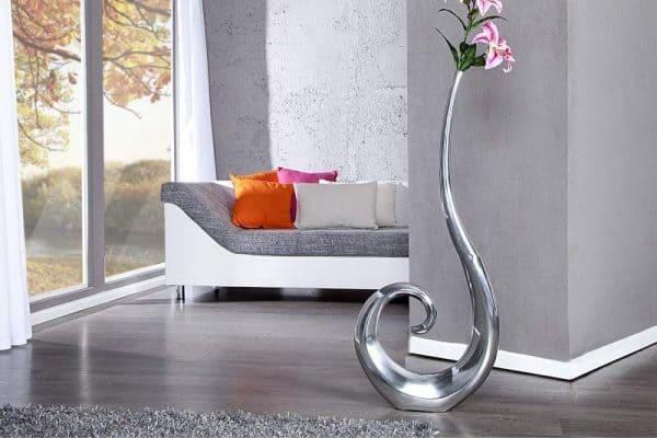 Váza Wave strieborná 106 cm