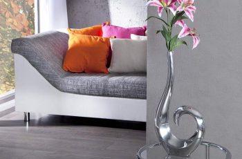 Váza Wave strieborná 50 cm