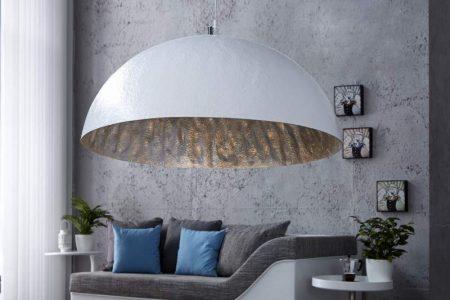 Závesná lampa Ador Stout - biela