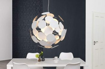 Závesná lampa Ador Stout - biela-strieborná