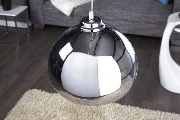 Závesná lampa Ador Stout - chróm