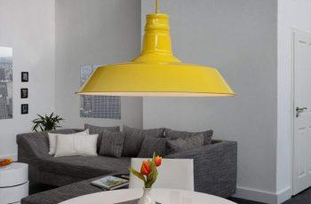 Závesná lampa Ador Stout - žltá