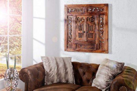 Zrkadlo Secret Window 70cm hnedá mahagón