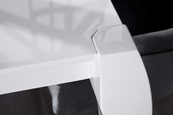 Biely rozkladací jedálenský stôl Barocco 85 x 170 - 200 - 230 cm »
