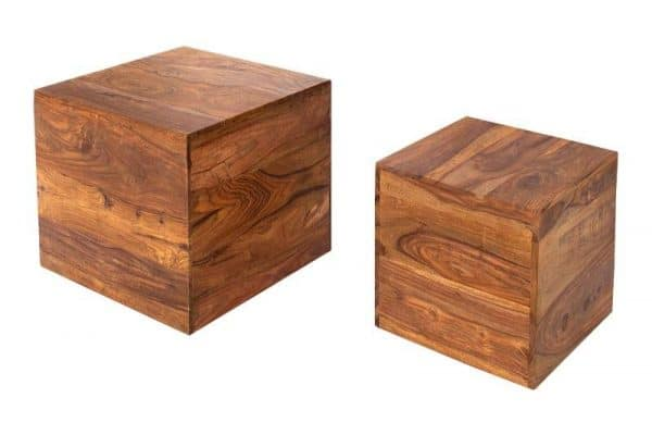 Drevený konferenčný stolík Makassar - set 2 ks »