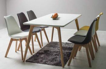 Jedálenský stôl Mezzo - dub biely
