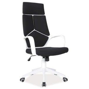 Kancelárska stolička Q-253 - čierno-biela