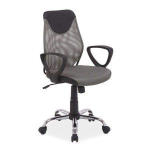Kancelárska stolička Q-253 - čierno-strieborná