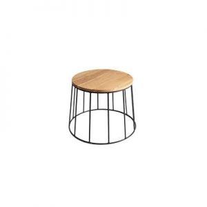 Konferenčný stolík Chesterfield 100cm - čierna