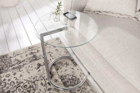 Konferenčný stolík Effect 50-70cm strieborná
