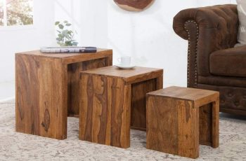 Konferenčný stolík Madeira set 3ks sheesham
