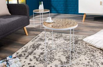Konferenčný stolík New Fusion set 2ks - biela