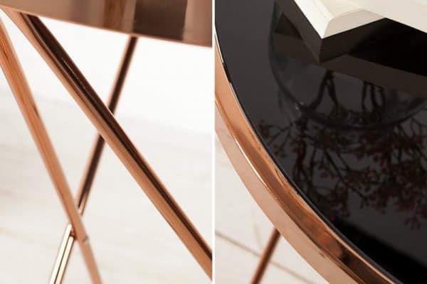 Konferenčný stolík New Fusion set 2ks - čierne sklo