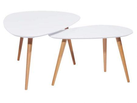 Konferenčný stolík Scandinavia set 2ks - buk biely