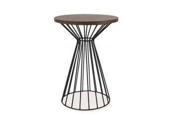 Konferenčný stolík Scandinavia set 2ks - tmavý orech-čierna
