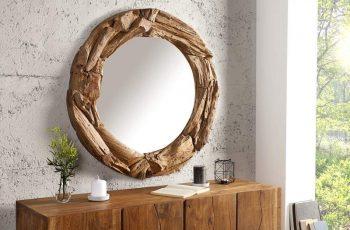 Nástenné zrkadlo Tribe 80cm recyklované drevo